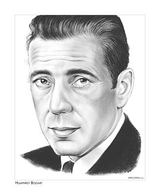 Falcon Drawing - Humphrey Bogart by Greg Joens