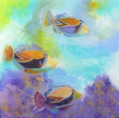 Tropical Fish Painting - Humuhumu 6 by Marionette Taboniar
