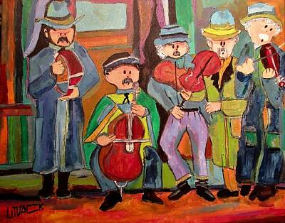 Painting - Hungarian Klezmer 1890's by Michael Litvack