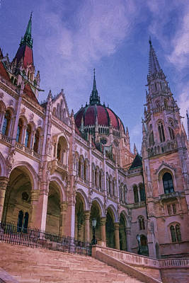 Budapest Hungary Photograph - Hungarian Parliament Riverside by Joan Carroll