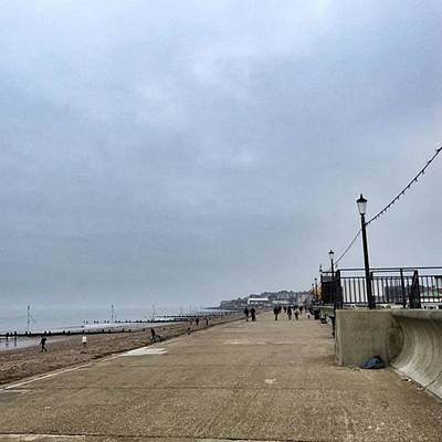 Beach Photograph - Hunstanton At 4pm Yesterday As The by John Edwards