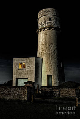 Ramshackle Photograph - Hunstanton Lighthouse At Night by John Edwards