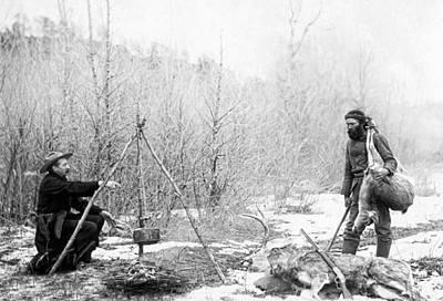 Hunters Photograph - Hunting Camp Winter 1887-88 -- South Dakota by Daniel Hagerman