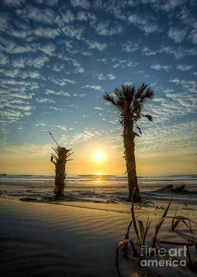 Hunting Island State Park Beach Sunrise Print by Dustin K Ryan