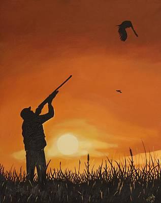Pheasant Drawing - Hunting Pheasant by Randy Mitchell
