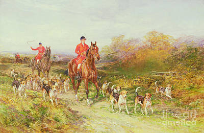 Hardy Painting - Hunting Scene by Heywood Hardy