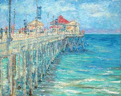 Huntington Beach Pier Original by Yoko Collin