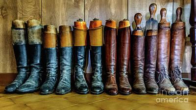 Huntsman's Boots Print by Heather Swan