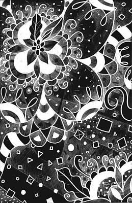 Cuckoo Drawing - Hurlyburly 2 by Helena Tiainen