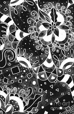 Hurlyburly 2 Reversed Print by Helena Tiainen