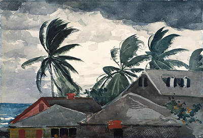 Storm Clouds Painting - Hurricane Bahamas by Winslow Homer