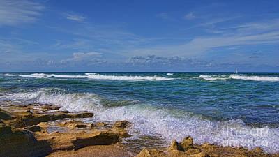 Ocean Photograph - Hutchinson Island Florida by Olga Hamilton