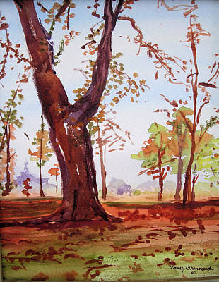 Hyde Park Mixed Media - Hyde Park Autumn  by Nancy Brennand