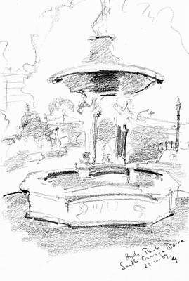 Hyde Park Drawing - Hyde Park by Karina Plachetka