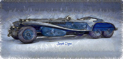 Hydra Schmidt Coupe  - Pencil Style -  - Da Print by Leonardo Digenio