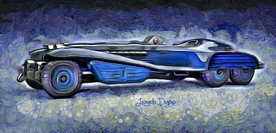 Figures Digital Art - Hydra Schmidt Coupe  - Van Gogh Style -  - Da by Leonardo Digenio