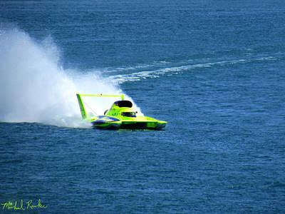 Hydroplane Raceboat Original by Michael Rucker