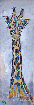 Baby Giraffe Painting - I Am A Giraffe by Ella Kaye Dickey