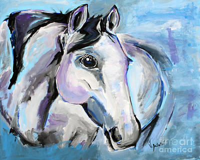 Summer Painting - I Am A Vision - Horse Art By Valentina Miletic by Valentina Miletic