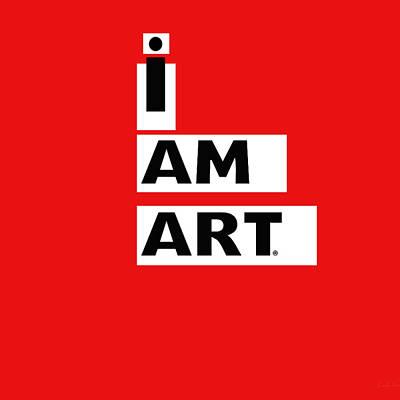 I Am Art Stripes- Design By Linda Woods Print by Linda Woods
