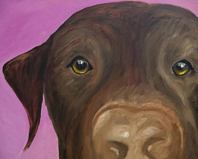 Chocolate Labrador Retriever Painting - I Am Being Really Good by Roger Wedegis