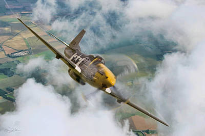 Dramatic Digital Art - I Am Legend P-51 by Peter Chilelli