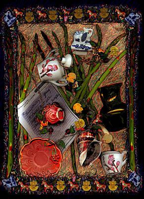 Asparagus Mixed Media - I Am My Mother by Deborah Hildinger