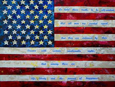 Declaration Of Independence Painting - I Believe by Patti Schermerhorn