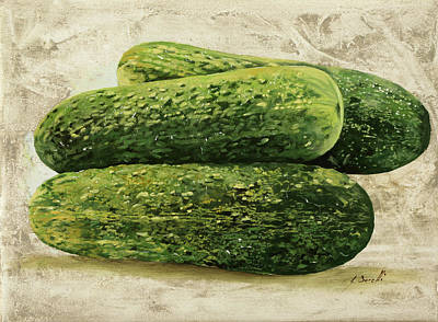 Cucumber Painting - I Cetrioli by Guido Borelli