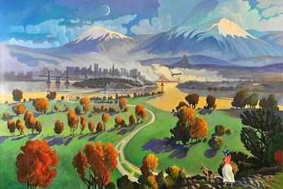 Landscape Painting - I Dreamed America by Art James West