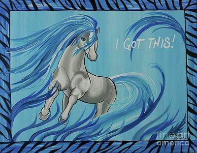 Horse Painting - I Got This by Amanda Gervais