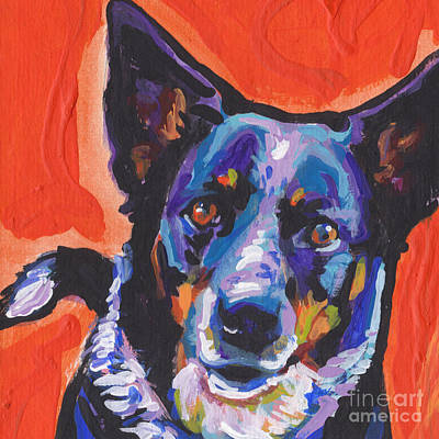 Cattle Dog Painting - I Heal You by Lea S