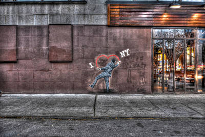 I Heart Ny Street Art Mural Print by Randy Aveille