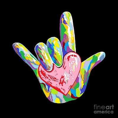 I Heart You Print by Eloise Schneider