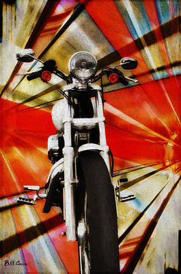 I Like Bikes Print by Bill Cannon