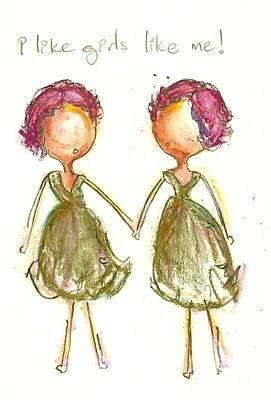 I Like Girls Like Me Print by Ricky Sencion