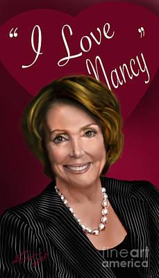 I Love Nancy Print by Reggie Duffie