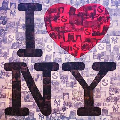 Johnlennon Painting - I Love New York by Brent Andrew Doty