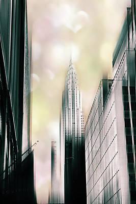 Chrysler Building Digital Art - I Love New York by Jessica Jenney