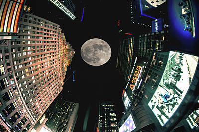 Fantasy Photograph - I Love New York Supermoon Edition by Rick Grossman