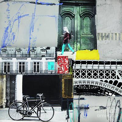 Mixed Media - I Love Paris by Elena Nosyreva