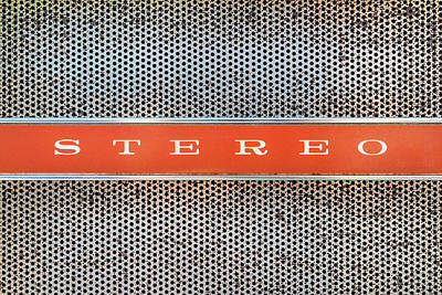 Classic Audio Player Photograph - I Love Stereo by Martin Bergsma