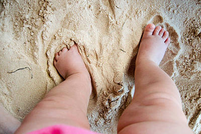 Toe Photograph - I Love The Beach by Adam Romanowicz