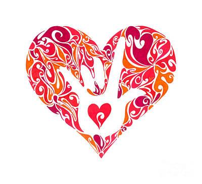 Filigree Painting - I Love You by Anushree Santhosh