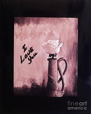I Love You Print by Marsha Heiken