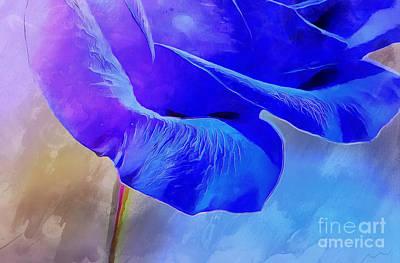Blue Flowers Photograph - I Miss You  by Krissy Katsimbras