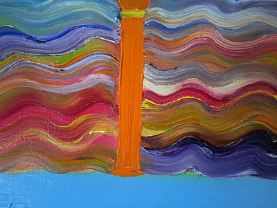 Normal Painting - I On A Normal Day by Cindy  Riley