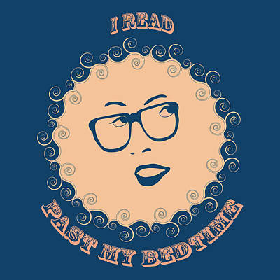 I Read Past My Bedtime Print by Frank Tschakert