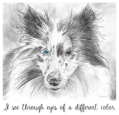 Sheltie Painting - I See Through Eyes Of A Different Color by Amy Kirkpatrick