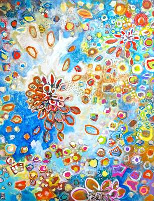 Cosmological Painting - I See Your Earliest Beginnings In My Heart  by Scott Richard